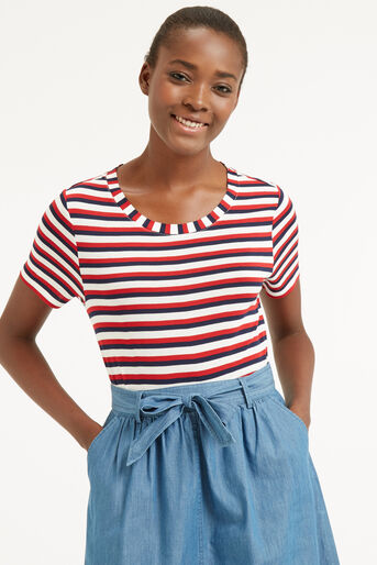 Oasis, MULTI STRIPE PERFECT TEE Multi 1