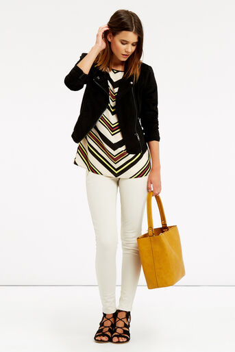 Oasis, Chevron Stripe T-Shirt Multi 2