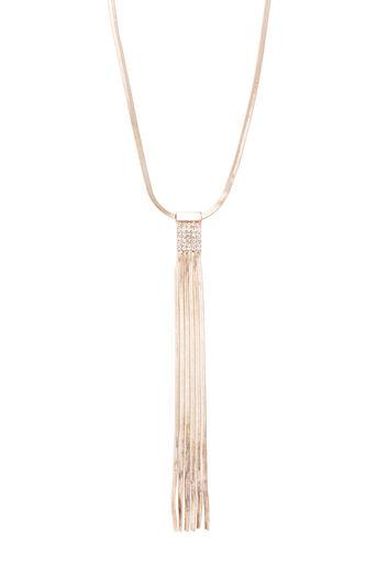 Oasis, Sleek Chain Tassel Necklace Gold 0
