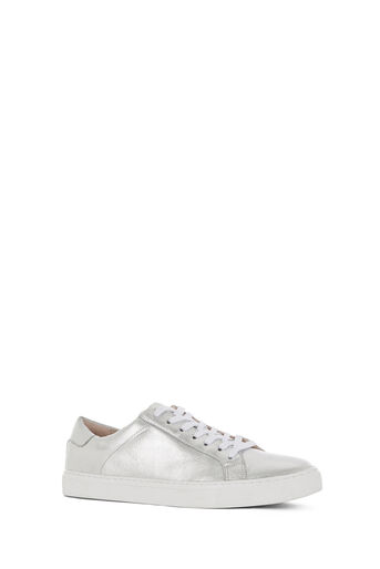 Oasis, LULU LEATHER TRAINER Silver 0
