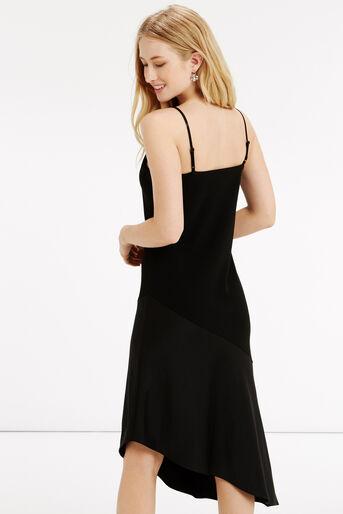 Oasis, Asymmetrical Midi Dress Black 3