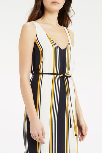 Oasis, Stripe Midi Slip Dress Multi Blue 4
