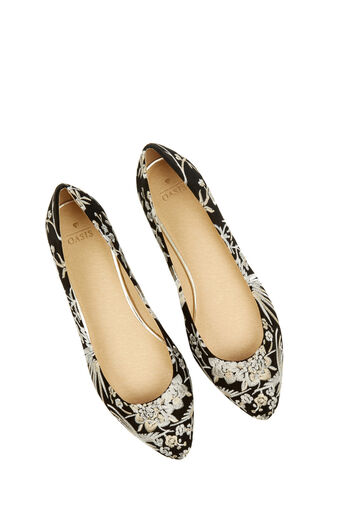 Oasis, EMBROIDERED FLAT POINT Multi Black 4