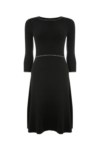 Oasis, FIT AND FLARE DRESS Black 0