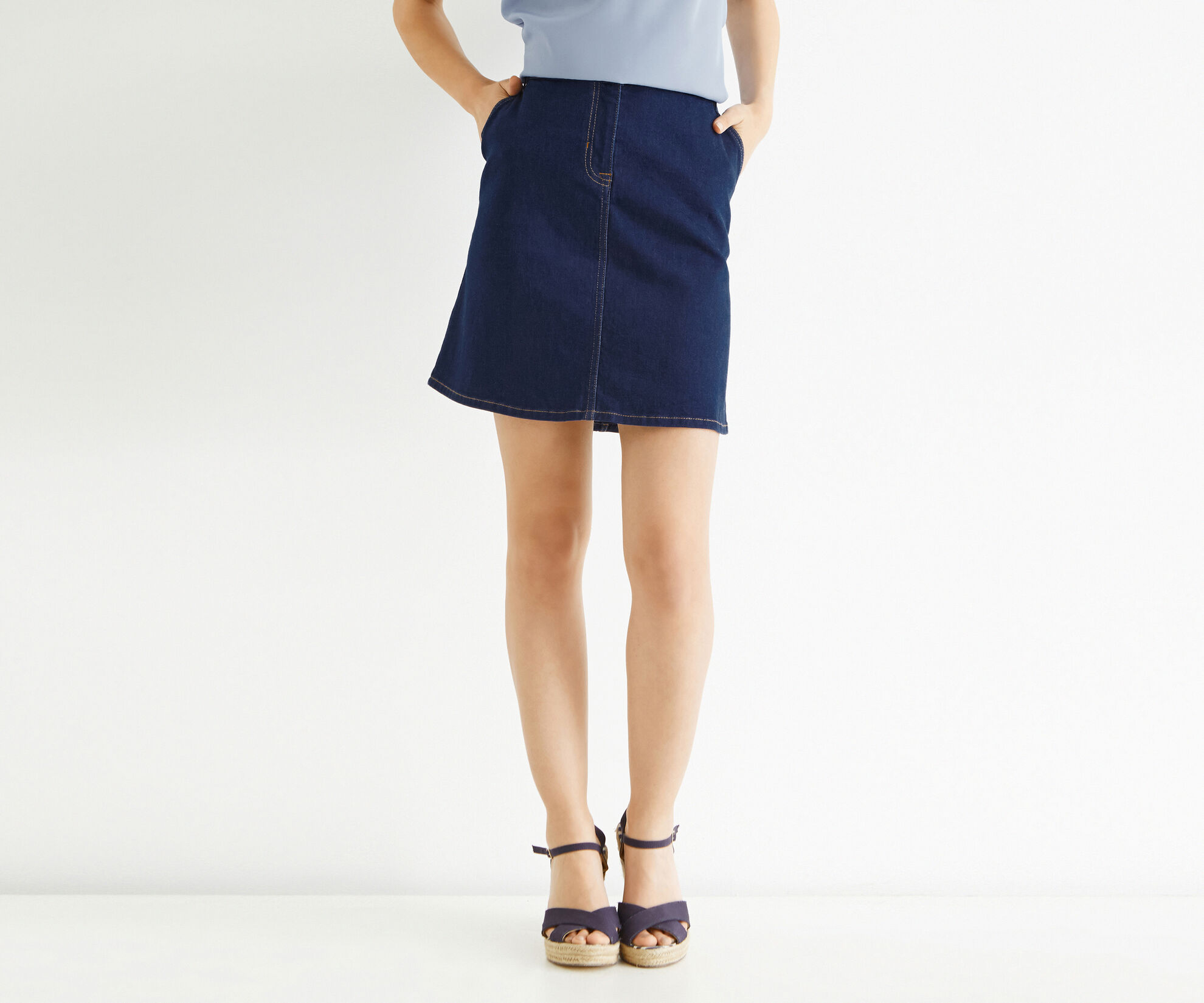 Oasis, The Florence Skirt Denim 1