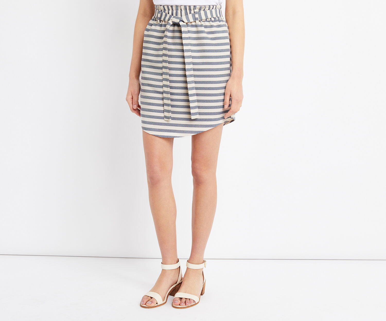 Oasis, STRIPE PAPERBAG SKIRT Multi 1