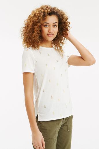 Oasis, Pineapple Foil T-Shirt White 1