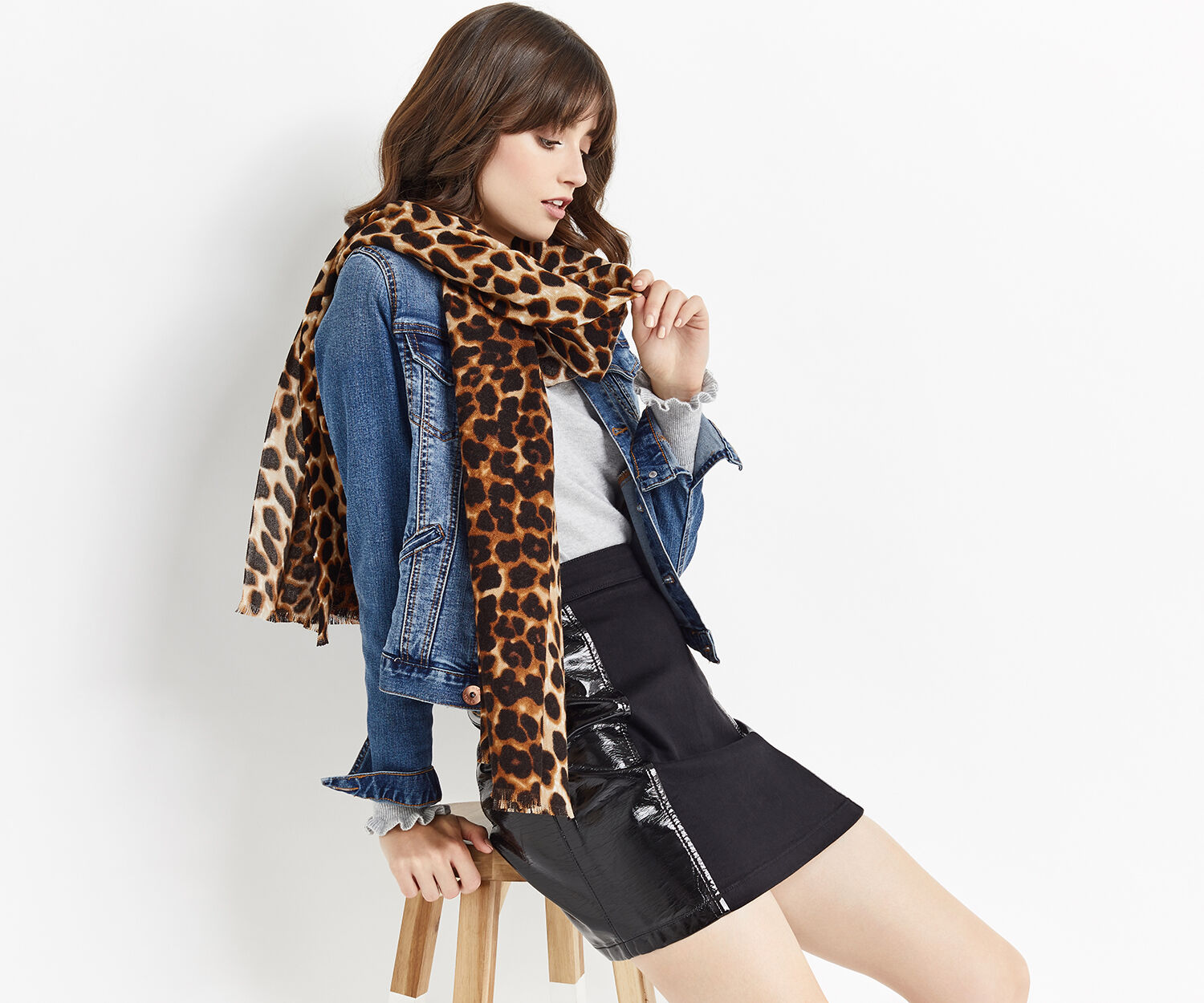Oasis, ANIMAL SCARF Mid Neutral 1