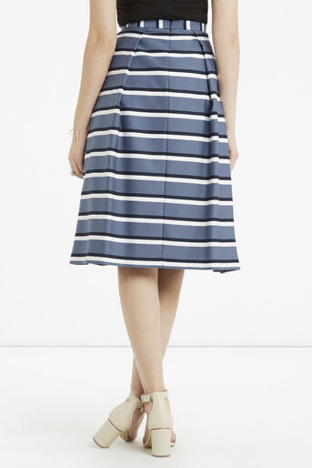 Oasis, Stripe Midi Skirt Multi Blue 3