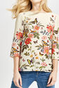 Oasis, AMELIA FLORAL PLACEMENT TOP Off White 4