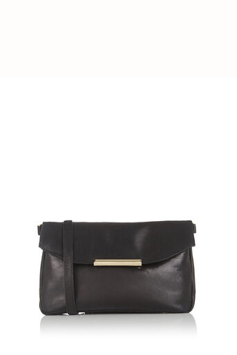 Oasis, Leather Willow Clutch Bag Black 0