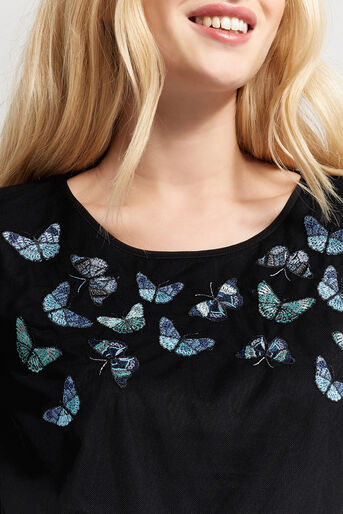 Oasis, FOREST BUTTERFLY TOP Black 4
