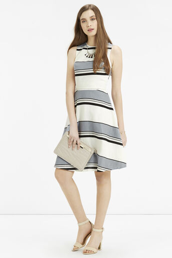 Oasis, Skater Dress - Longer Length Multi Blue 2