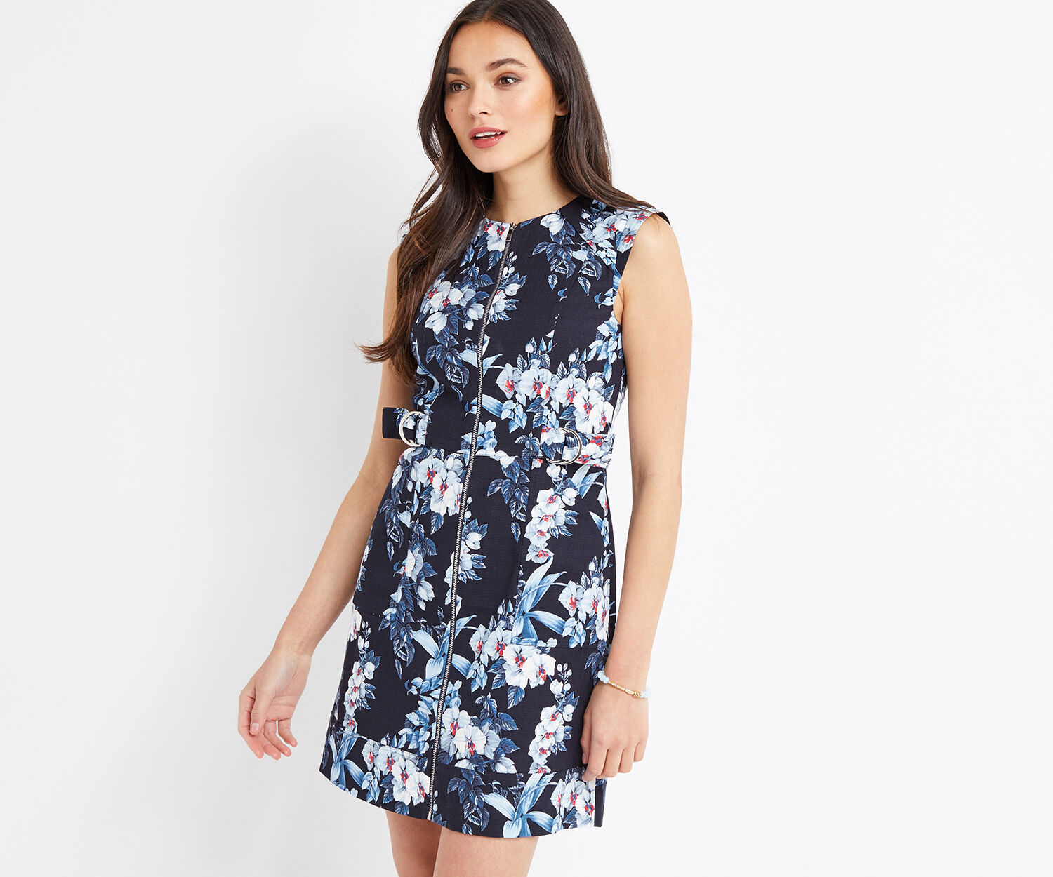 Oasis, TROPICAL ORCHID SHIFT DRESS Multi 1