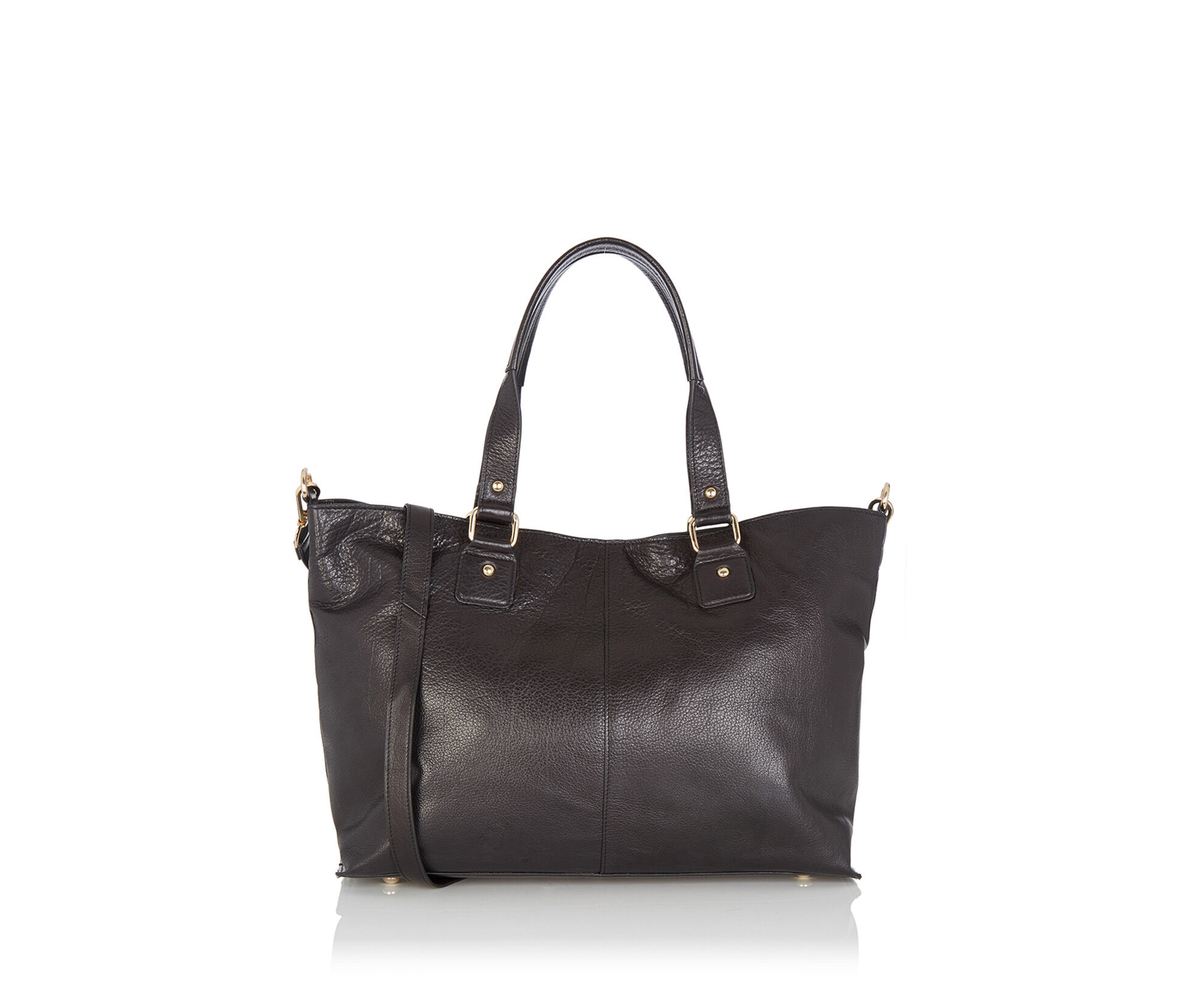 Oasis, Leather Shopper Black 0