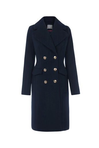 Oasis, THE BUTTON COAT Navy 0