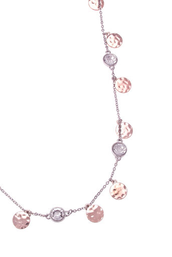 Oasis, DISC & CRYSTAL CHAIN NECKLACE Multi 2