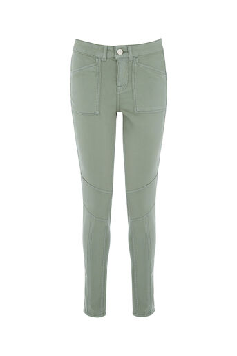 Oasis, JADE PATCH POCKET SKINNY Pale Green 0