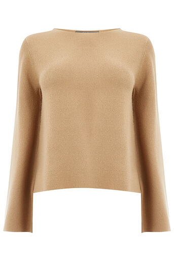 Oasis, BELL SLEEVE KNIT Camel 0