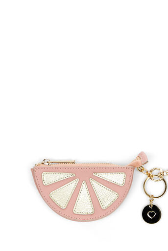 Oasis, LEATHER COIN PURSE GRAPEFRUIT Pale Pink 0