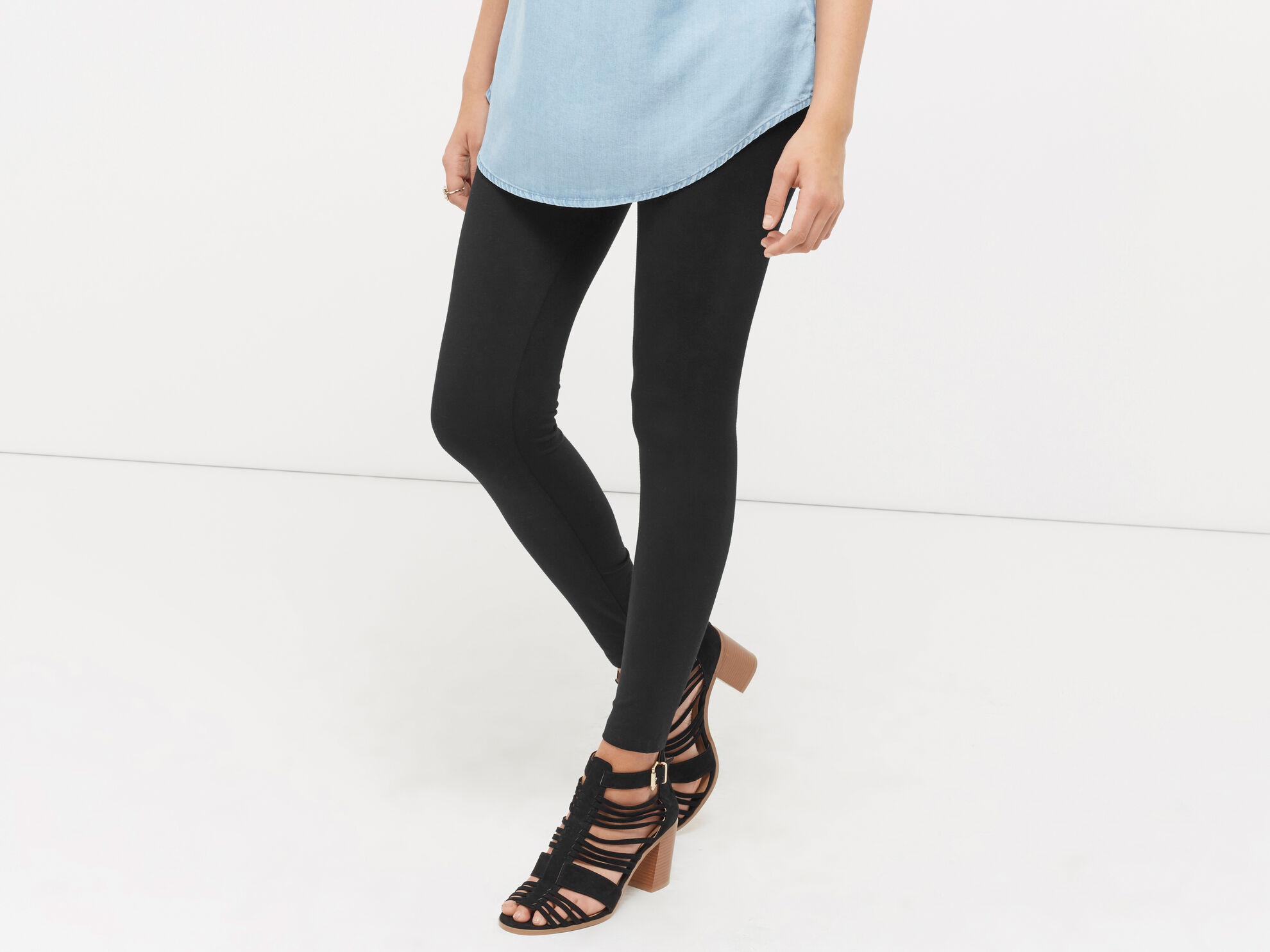 Oasis, Basic Leggings Black 1