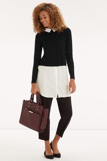 Oasis, Mono Shirt Tails Tunic Black and White 2