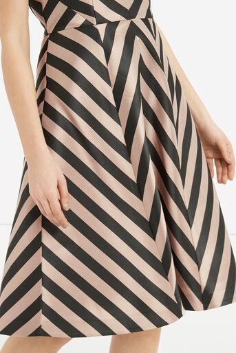 Oasis, Stripe Dress - Longer Length Multi Black 4