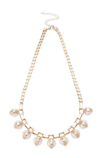 Oasis, Pearl Chunky Necklace Cream 0