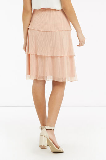 Oasis, Tiered Skirt Pale Pink 3