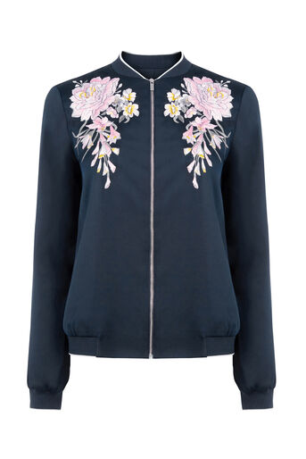 Oasis, EMBROIDERED BOMBER JACKET Multi 0