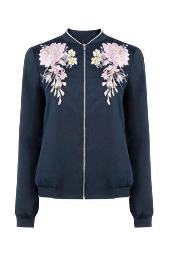 Oasis, Veste aviateur avec lotus brodé Multicolore 0