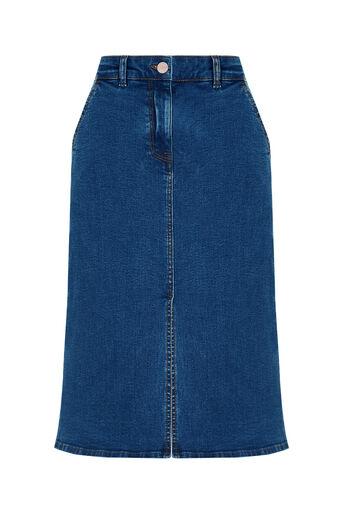 Oasis, Denim Midi Skirt Denim 0