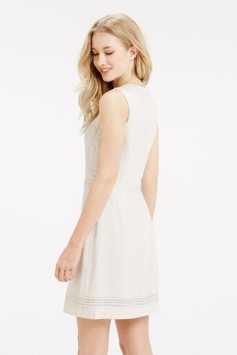 Oasis, Lace Trim Dress White 3
