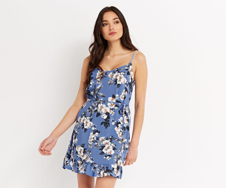 Oasis, Botanical orchid dress Rich Blue 1