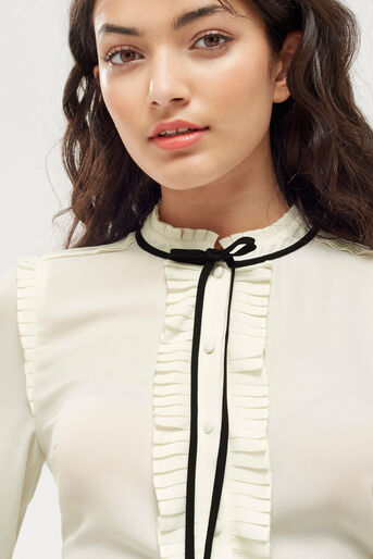 Oasis, DANDY TIE BLOUSE Off White 4