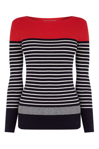 Oasis, Stripe Ribbed Sweater Multi 0