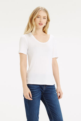 Oasis, Scoop Neck T-Shirt White 1