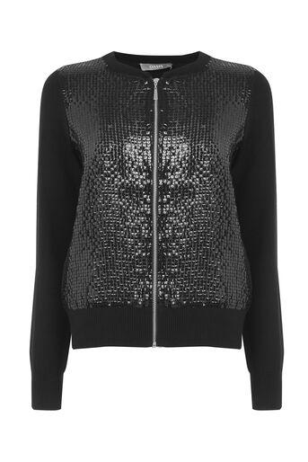 Oasis, Sequin bomber jacket Black 0