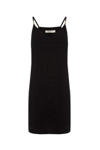 Oasis, Metal Trim Cami Dress Black 0