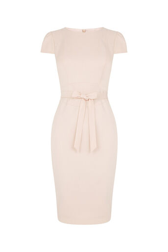 Oasis, Bonnie Workwear Dress Mid Neutral 0