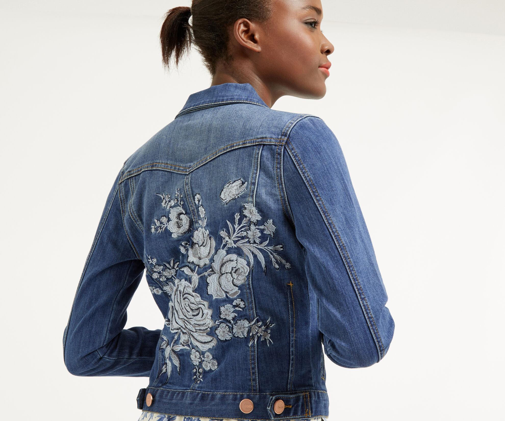 Oasis, Embroidered denim jacket Denim 1