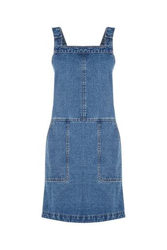 Oasis, Darcy Denim Dungaree Dress Denim 0