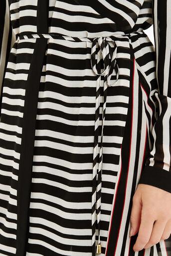 Oasis, Stripe Longline Shirt Multi Black 4