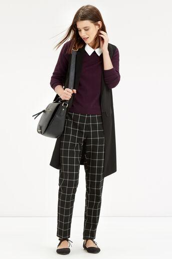 Oasis, Collar Knit Sweater Burgundy 2