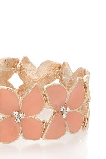 Oasis, Stretch flower bracelet Coral 2