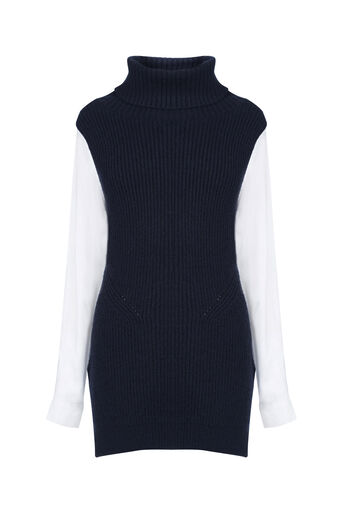 Oasis, Knitted shirt tabard Navy 0