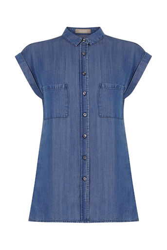 Oasis, Taylor Shirt Denim 0