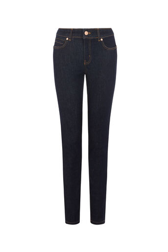 Oasis, Sculpting Slim Leg Jeans Dark Wash 0