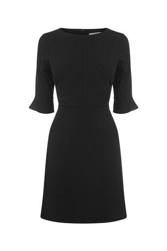 Oasis, FLUTE SLEEVE DRESS Black 0