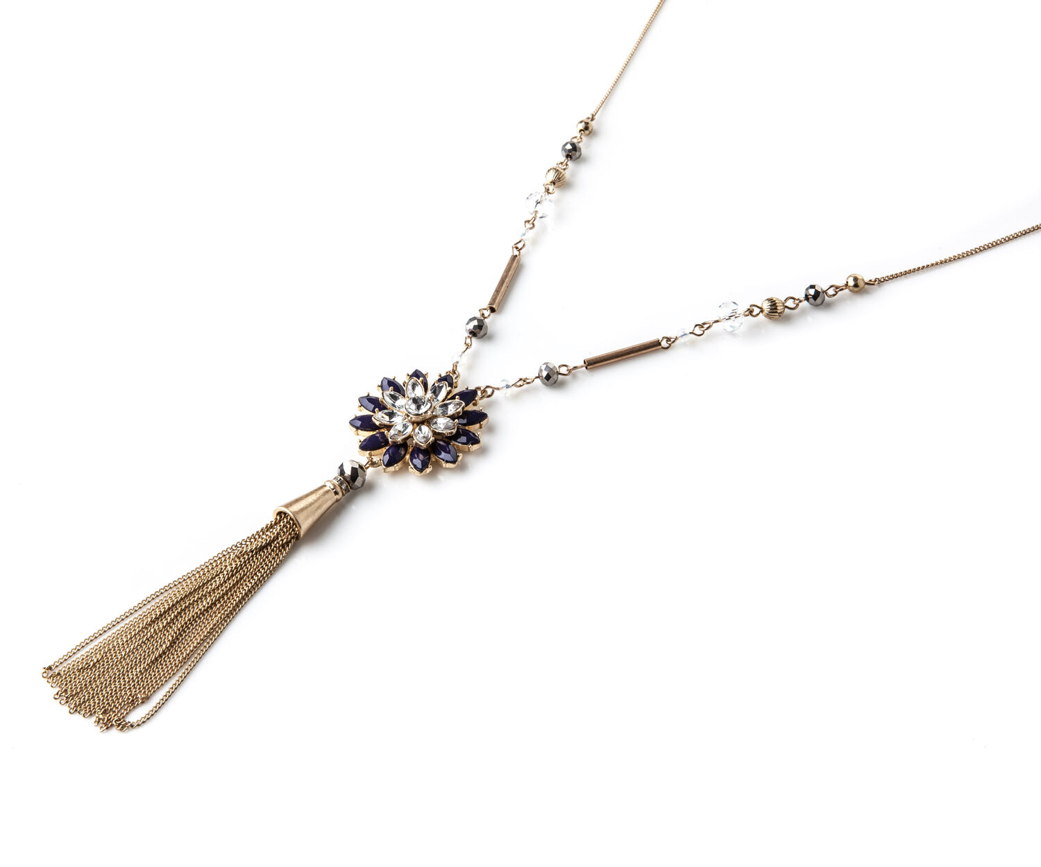 Oasis, LONG FLOWER PENDANT Gold 1
